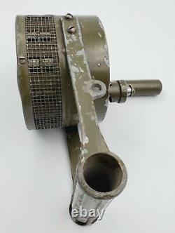 1940s WWII Army Military Federal Electric Co Hand Crank Air Raid Siren Original