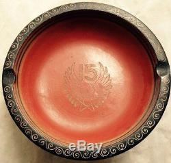 1944 1945 Fifteenth Air Force United States Army Trench Art Ashtray, Italy, Wwii