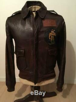 40's Vintage Back Paint A-2 Military Jacket WW2 Size 38 M AIR FORCE U. S. ARMY