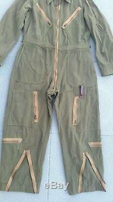 40s WW2 USAAF ARMY AIR FORCE L-1 Flight Suit BLUE BELL COVERALLS Sz M Workwear