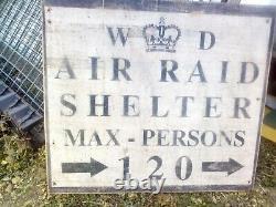 AIR RAID SHELTER sign WW2 WW1 ANDERSON REENACTMENT ARMY WAR CHURCHILL SPITFIRE w