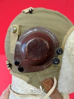 ARMY AIR FORCES TYPE A-9 SUMMER FLYING HELMET WithEAR CUPS