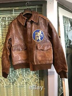 A-2 Rough Wear flying jacket. Original US Army Air Force WWII Size 38 Scarce