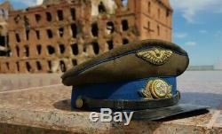 Air Force Cap 1940 RKKA Stalingrad WW2 Red Army visor original