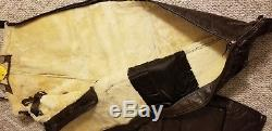 Army Air Force Leather Flight Pants