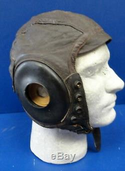 Army Air Forces Pilots Type A-11 Leather Flying Helmet- Large