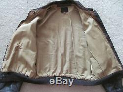 Authentic Vintage Ww2 Military Leather Jacket Type A-2 U. S. Army Air Forces Aaf