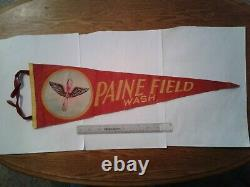 Authentic WWII Paine Field US Army Air Corps Fighter Training School Penant
