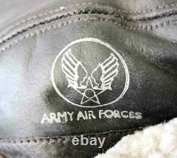 B-2 Flying Cap USAAF Winter WW2 B2 US Army Air Forces Leather Sheepskin Hat WWII