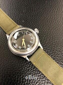 Bulova A-11 16j Ww2 Us Army Air Forces Hacking Navigation Wristwatch