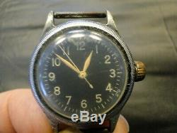 Bulova Type A-11 WWII Contract Military Hack Watch Army Air Force AS IS
