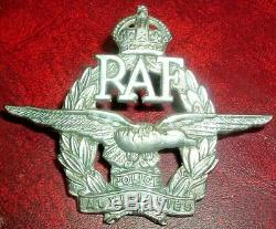 Cap Badges-original Kings Crown Ww2 Royal Air Force Police Auxiliary