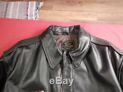 Cockpit USA Horsehide Leather A-2 Style Jacket Army Air Force 48 World War II