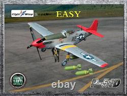 Flight Wing WWII US Army Air Force P-51D EASY MUSTANG Fighter 1/18 USA SHIP