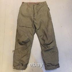 Genuine WW2 US Army Air Force A-9 trousers Alpaca Lined circa 33 waist Conmar