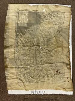 H0329 Original WW2 US Army Air Force AAF Silk Flyers Escape Map CBI L1D