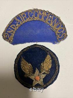 H0683 Original WW2 US Army AAF 2 Air Commando Bullion CBI Shoulder Patch IR45A