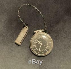 Hamilton WW2 World War II U. S. Army Air Corps Navy 4992B 24 hours pocket watch