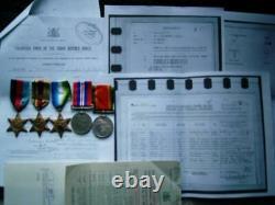 Lieut Air Gunner WW2 N Africa Atlantic 1939-45 star SA Air Force anti Subs medal