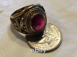 MINT WWII Pilot U S Army Air Corps Air Force Military 10K Gold Ring 1941 Turner