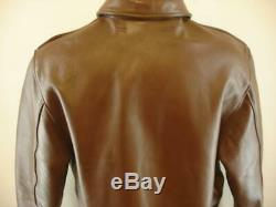 Mens M 40 WW2 Type A-2 Flight Jacket Brown Leather Air Force US Army Authentic