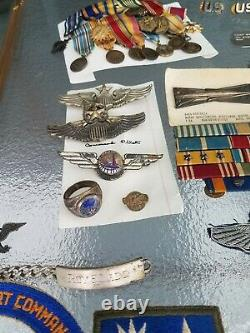 Named Colonel Transport Command US WWII Army Air Force Sterling Pilot Wing Lot