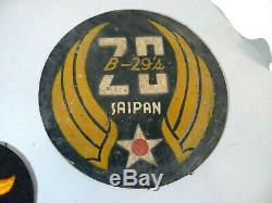 Named WWII B-29 Combat Pilot Army Air Corp Grouping Photos/Papers/Leather Patch