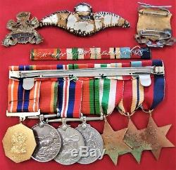 Named Ww2 War Medals South African Army & Air Force Officer P6147 L C Knott