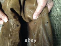 Nice Original Ww2 Us Army Air Corps Named A2 Leather Flight Jacket Size 40 To 42