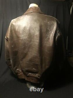 ORG WWII US Army Air Force Star Sportswear A-2 Leather Bomber Flight Jacket S 44