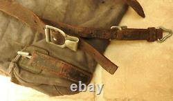 Original Military WW2 Canvas Germany Luftwaffe Air Force Rucksack Backpack(5304)