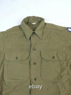 Original US ARMY WW2 Feldhemd SHIRT M-1937 UNIFORM HEMD 9th Air Force Sergeant