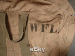 Original WW2 US Army Air Corps FIGHTER PILOT PARACHUTE-Complete-Dated 1941 Named