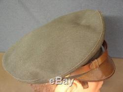 Original WW2 US Army Air Force Pilot crusher OD elastique cap