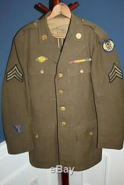 Original WW2 U. S. Army Air Forces British Made 8th AF Patched Jacket & 1942 d