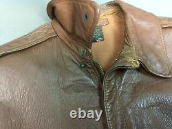 Original WWII A2 Flight Jacket Perry Sportswear Size 40 Air Force US Army