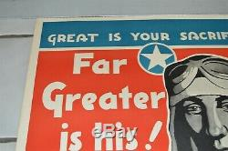 Original WWII Poster US 9th Army Air Force Thunderbolt Fighter Bomber Pilot