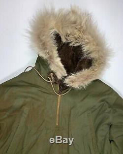 Original WWII US Army Air Corps AAF D-2 Mechanic's Winter Parka and Liner SZ 40