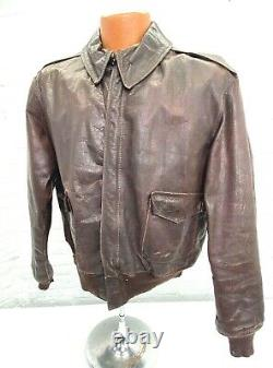 Original WWII US Army Air Force A2 Leather Flight Jacket