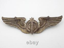 Original WWII US Army Air Force Bombardier Wings 3 Sterling Silver