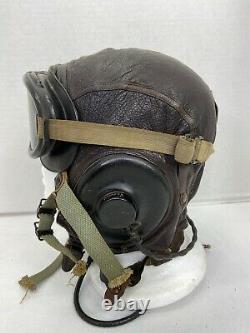 Original WWII US Army Air Force Named CBI Pilots A-11 Complete Flight Helmet
