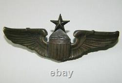 Original WWII US Army Air Force Senior Pilot Wings 3 Sterling Silver AE Co