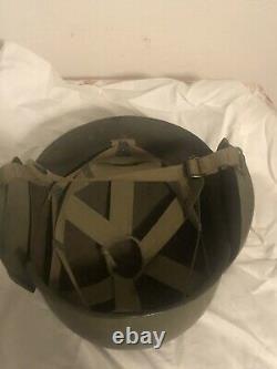 Original WWII WW2 US Army Air Force AAF M3 Flak Helmet Bomber Gunner