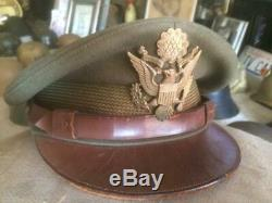 Original World War Two U. S. Army Air Force Crusher Cap Very Clean