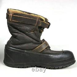 Original Ww2 Usaaf Army Air Forces Winter Flying Flight Type A-6a Boots Size XL