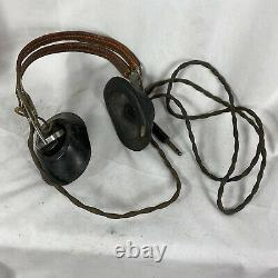 Original Wwii Army Air Corp Pilot Headphones