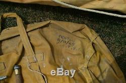 Original Wwii Army Air Corps Aircraft Survival Rubber Life Raft Boat Kit 1945