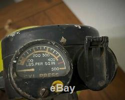 Original Wwii Us Army Air Corps D-2 Walk Around Oxygen Bottle & Bag B-17 B-24