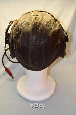 PERFECT WWII Army Air Force Flight A-11 Leather Helmet AN 6530 Goggles Receivers