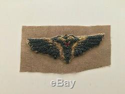 Pk227 Original WW2 US Army Air Force Flight Surgeon Wings Gold Bullion WA10